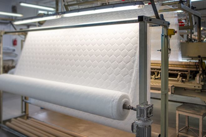 Production of quilting fabrics