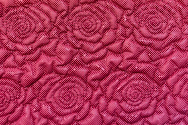 Quilting rose pattern