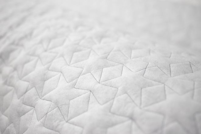 Quilted star pattern