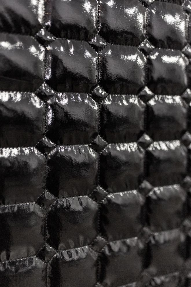 Black quilted material