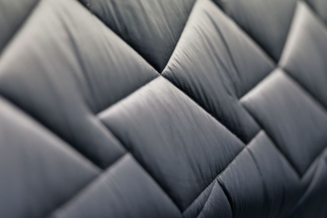 Quilted black fabric