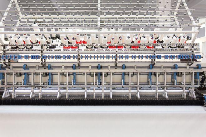 Fabric quilting – machine