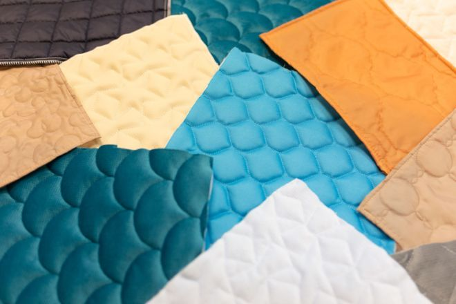 Quilting – set of loosely arranged fabrics