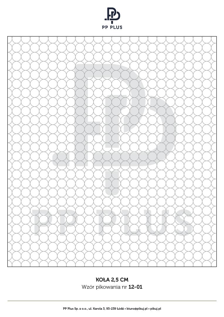 Wzór pikowania - Koła 2,5 cm