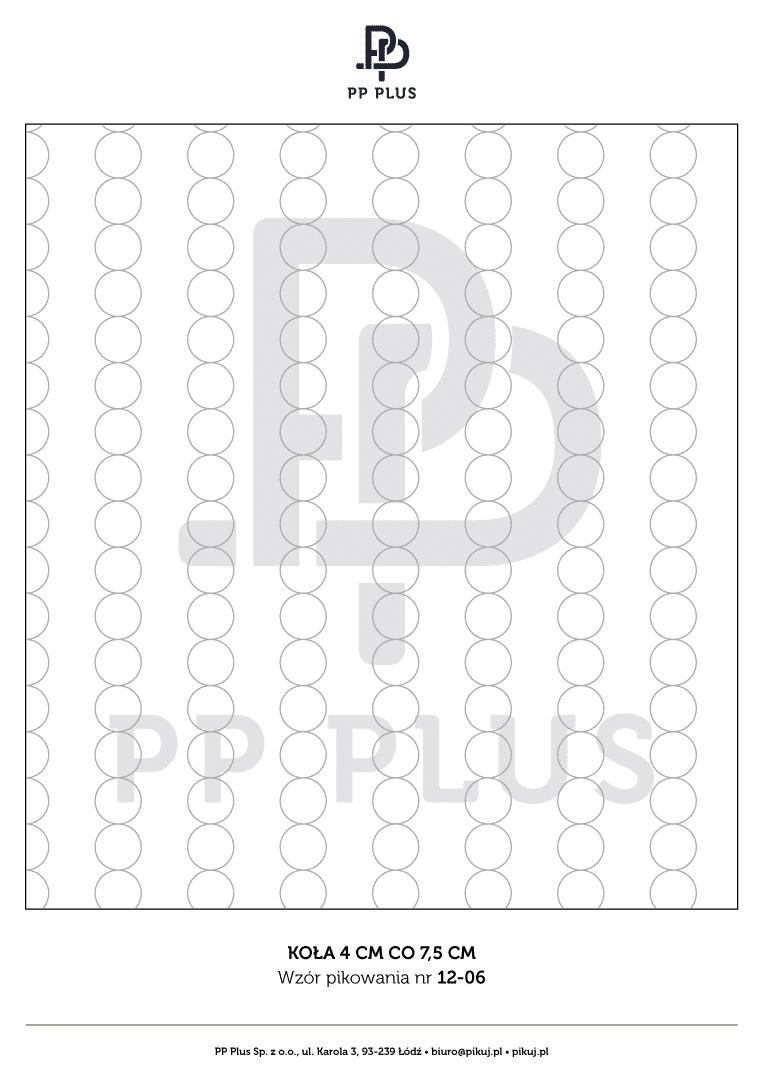 Wzór pikowania - Koła 4 cm co 7,5 cm
