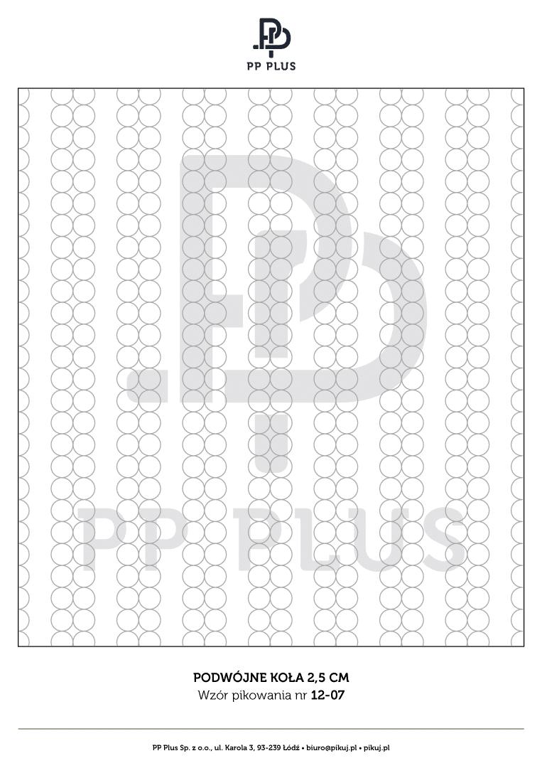 Wzór pikowania - Podwójne koła 2,5 cm