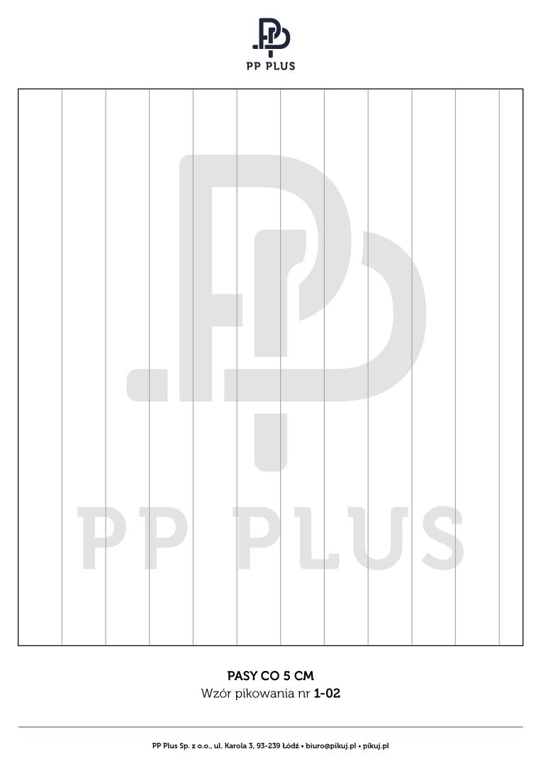 Wzór pikowania - Pasy co 5 cm