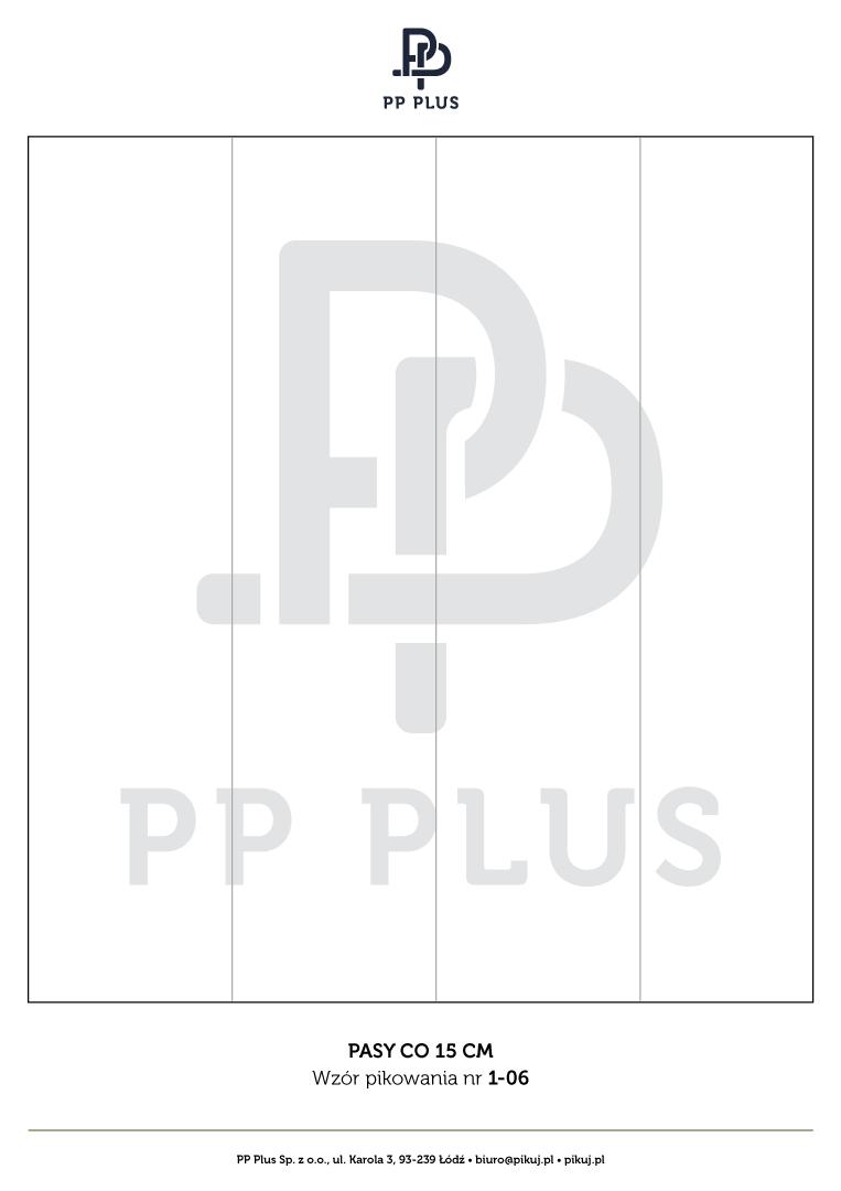 Wzór pikowania - Pasy co 15 cm