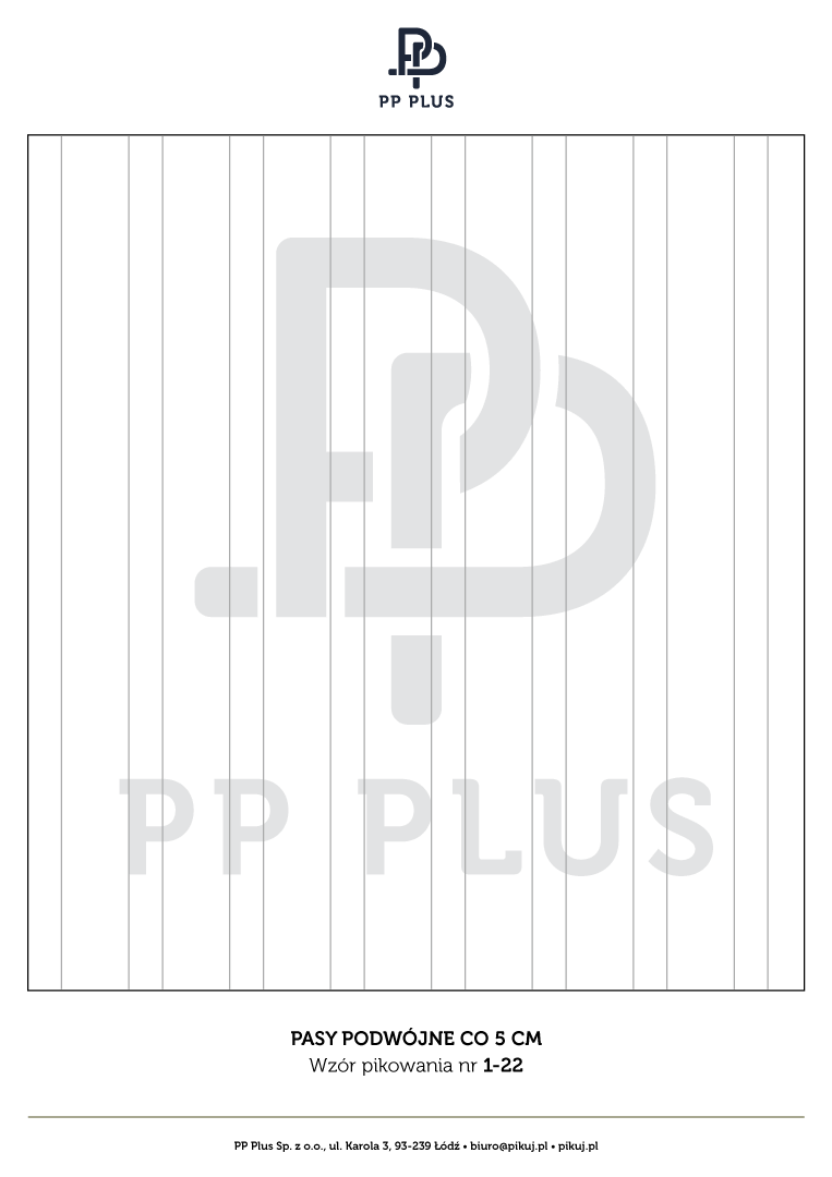 Wzór pikowania - Pasy podwójne co 5 cm