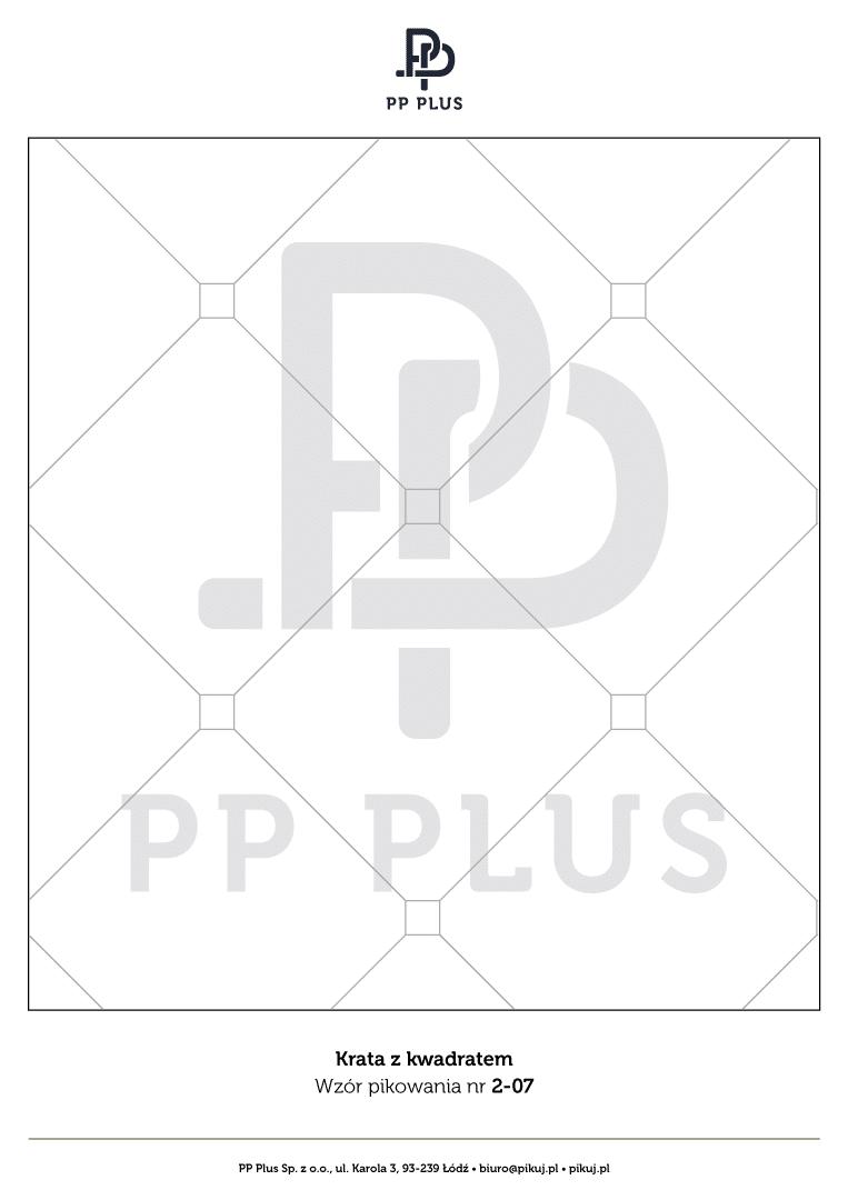 Wzór pikowania - Krata z kwadratem