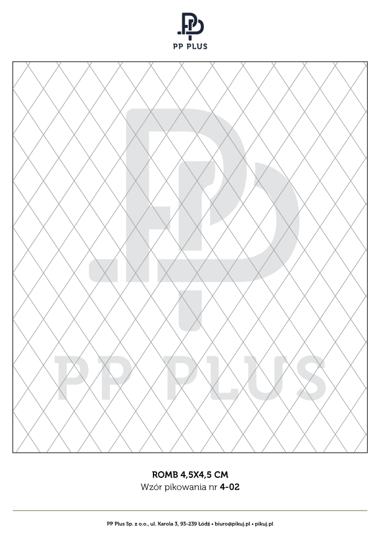 Wzór pikowania - Romb 4,5 x 4,5 cm
