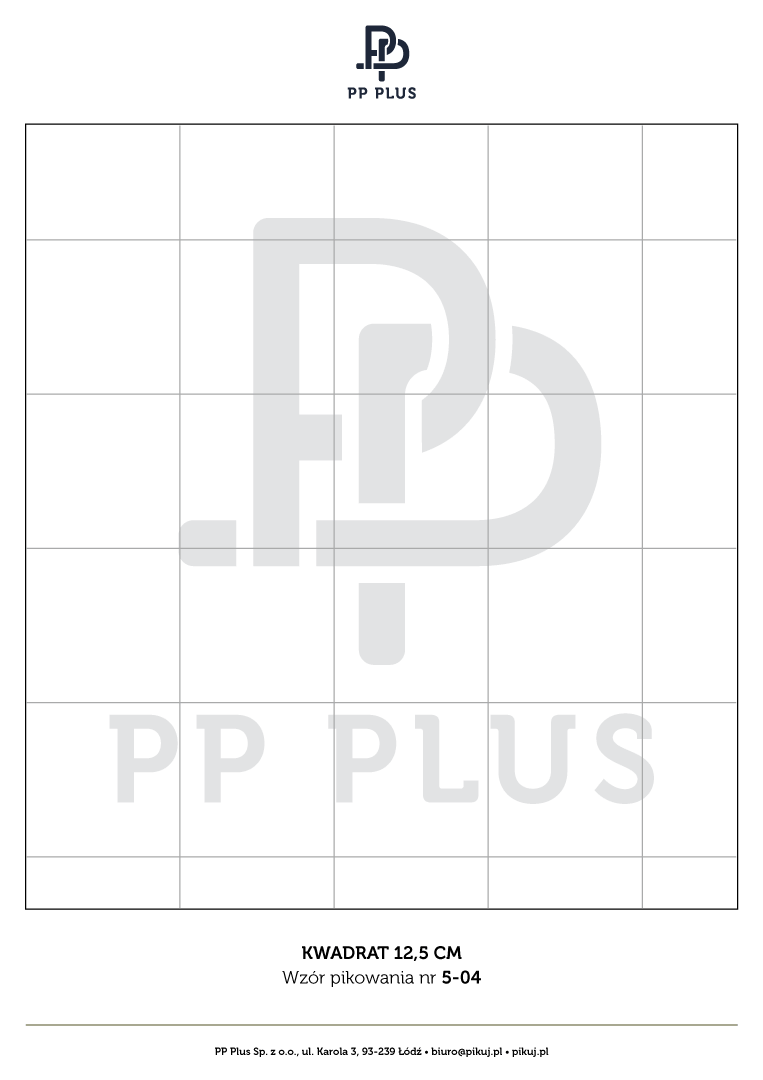 Wzór pikowania - Kwadrat 12,5 cm