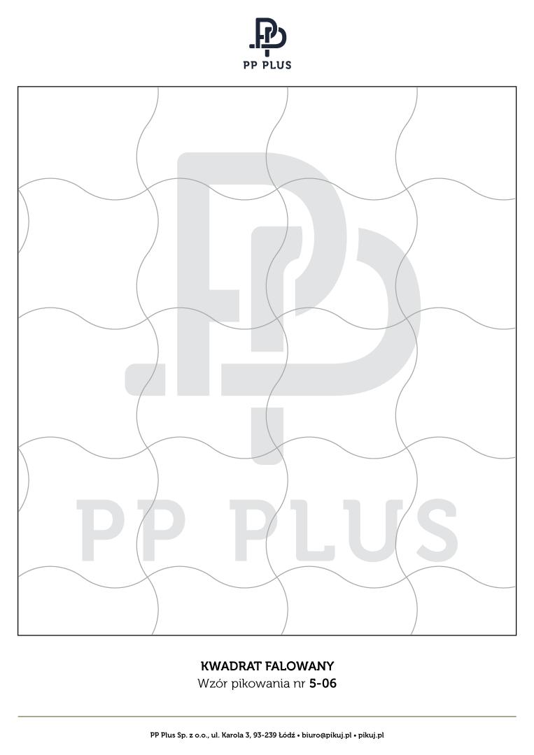 Wzór pikowania - Kwadrat falowany