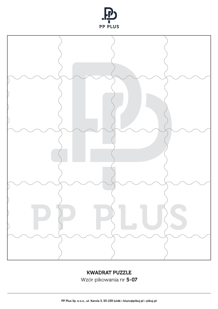 Wzór pikowania - Kwadrat puzzle