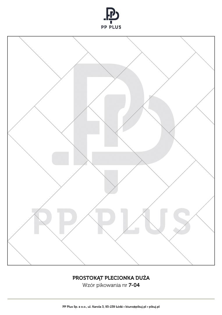 Wzór pikowania - Prostokąt plecionka duża