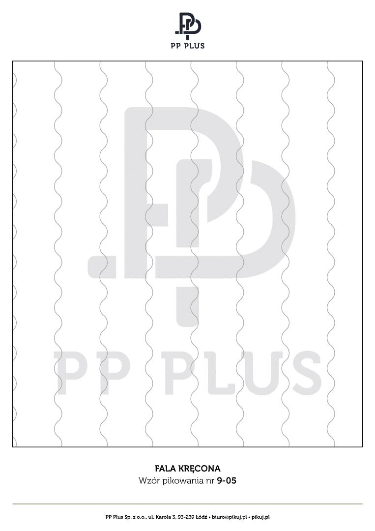 Wzór pikowania - Fala kręcona