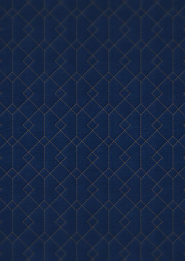 Wzór pikowania - Krata zachodząca 5 x 5 z pasem