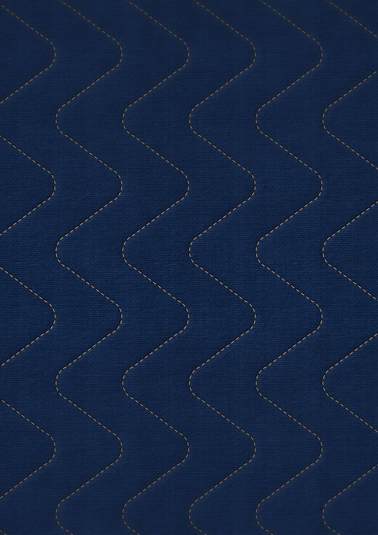 Wzór pikowania - Fala zygzak co 7,5 cm wydłużona