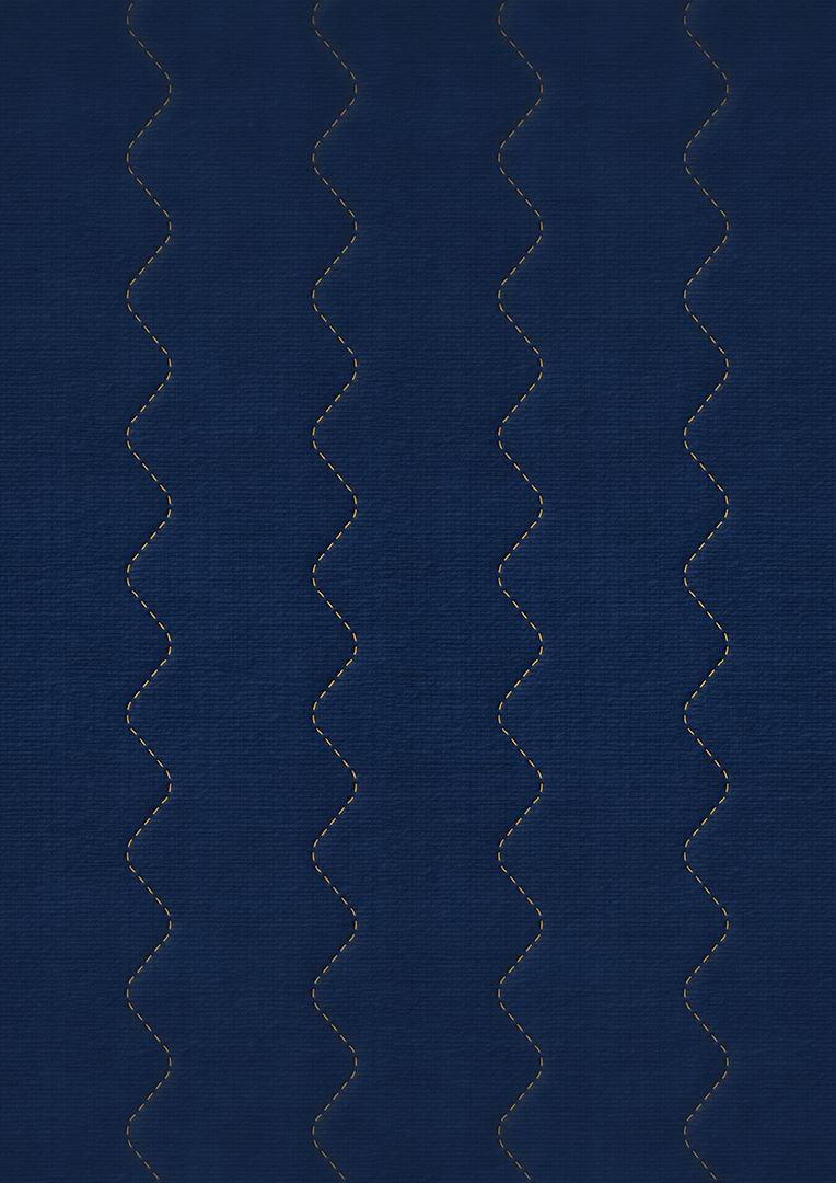 Wzór pikowania - Fala zygzak co 7,5 cm skrócona
