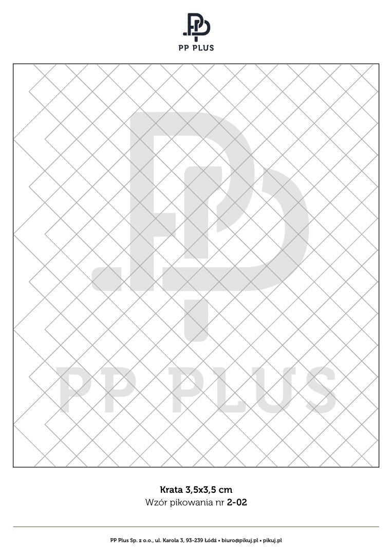 Wzór pikowania - Krata 3,5 x 3,5 cm