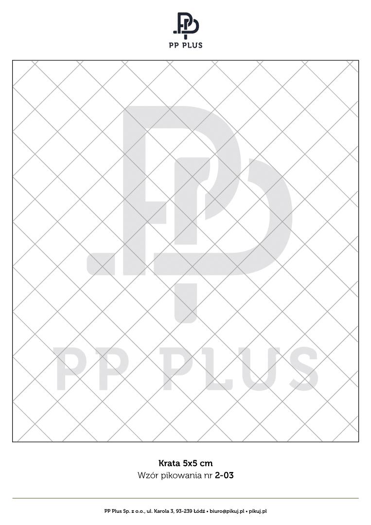 Wzór pikowania - Krata 5 x 5 cm