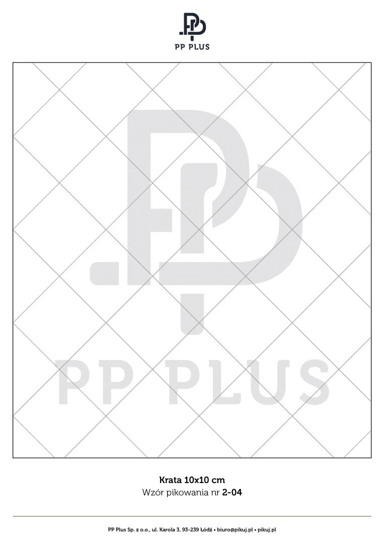 Wzór pikowania - Krata 10 x 10 cm