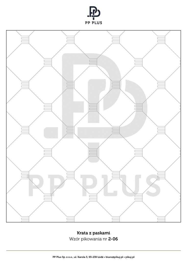 Wzór pikowania - Krata z paskami